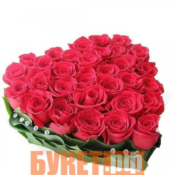 Букет «Розовое сердце»