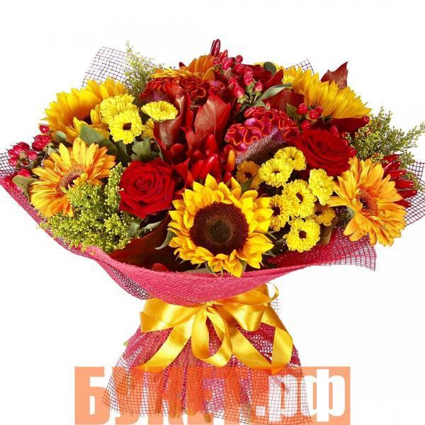 Букет «Цветочный восторг» с доставкой по Москве из салона цветов БУКЕТ.РФ